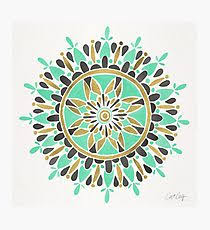 >seafoam green wall art redbubble mint gold mandala photographic print