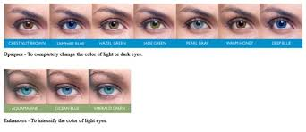 Acuvue Contact Colors Chart Acuvue 2 Colours Opaques Enhancers Hazel Green Dark