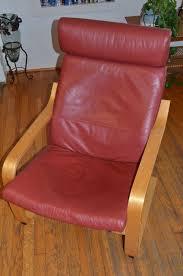 ikea poang leather armchair
