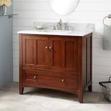 Bamboo Bathroom Cabinets 36 Evelyn Bamboo Vanity For Rectangular Undermount Sink Light