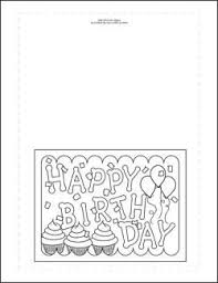 Someone's special day deserves a special card — one filled with good thoughts and well wishes for the celebrant. Birthday Cards To Color Happy Birthday Cards Printable Birthday Card Printable Birthday Coloring Pages