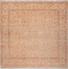 square size vintage silk and wool persian tabriz rug 60026 by nazmiyal