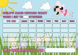 Magnetic Reusable Behaviour Fairy Reward Chart Free Stickers