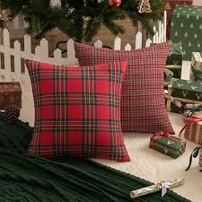 tartan cushion cover plaid check sofa