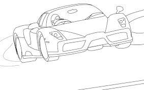 Ferrari Laferrari Coloring Pages Colouring Sports Car With La