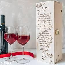 C'è poco da fare, il vino è amato da tutti. Cassettina Porta Vino In Legno Personalizzata Con La Tua Frase D Amore Idea Regalo San Valentino Olalla