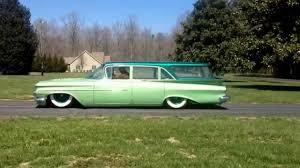 1959 Chevy wagon , kustom , 292, 12port bagged - YouTube