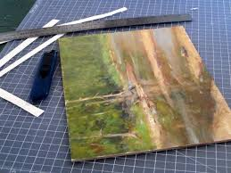 a plein air painter s blog michael chesley johnson mounting finished paintings on paper or canvas to board