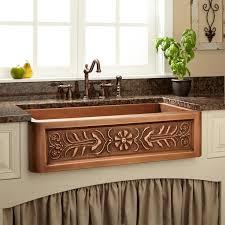 Copper Kitchen Sink Faucet Antique Copper Kitchen Faucet And Apron Front Copper Kitchen Sink