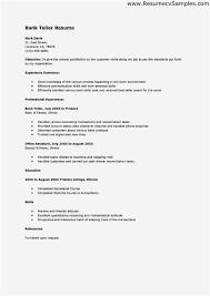 Sample Resume For Bank Teller At Entry Level Entry Level Bank Teller