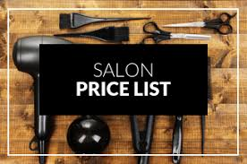 Salon Price List - The Hub Buckshaw