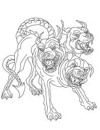 Small Picture Cerberus Greek Mythology line art Bing images Coloring pages