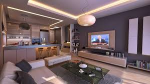 ... Open plan living space idea for a bachelor pad