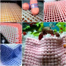 diy fluffy pom pom baby blanket t