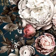 Summer Squall in Midnight Blue <b>Wallpaper</b> in 2019   <b>Lovely flowers</b> ...