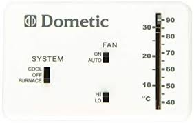 Dometic D3106995 032 3106995 032 Analog Wall Thermostat Only Polar White