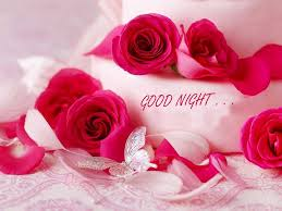 a rose flower with good night image