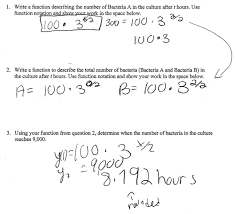 archaicfair how much bacteria students are asked to write and combine an simple exponential word problems