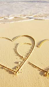 love heart sea sand iphone 6 wallpapers hd