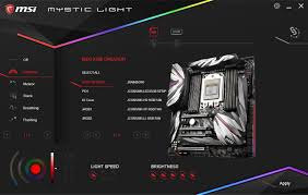 Msi Mystic Light Utility Bios And Software The Msi Meg X399 Creation Motherboard