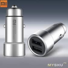 <b>Автомобильная зарядка Xiaomi</b> MI car charger 2,4A *2 ...