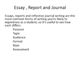 el essay reports and journals verbs of attribution ppt  14 essay report and journal essays reports and reflective journal writing are the most common forms of writing you re likely to experience as a student