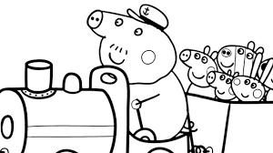 Peppa Pig Coloring Pages Free Within Pdf Wumingme