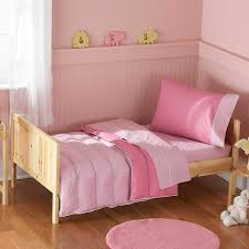 image of pink toddler bed color