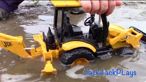 Toy Trucks for Kids Bruder Construction Trucks JCB Backhoe.