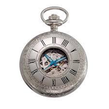 pocket watches gotham watch gotham men s silver tone 17 jewel mechanical covered pocket watch gwc14036sb