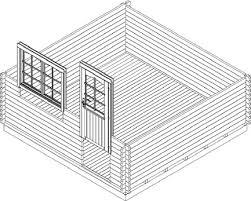 Kesseldruckimprägnierten holzunterleger, zum schutz für den gartenhaus fußboden. Holzwurm Obersayn