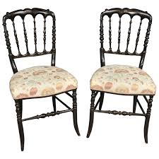 Pair Antique Chinese Black Lacquer Dining Chairs Spindle Back At Antique Spindle Back Dining Chairs