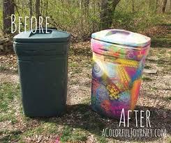 Stenciling Spray Paint Trashy Graffiti Stenciling Trash Can That Is