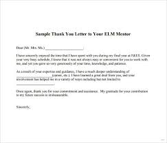 Thank You Letter Mentor Entire Picture Sample Note Boss Documents