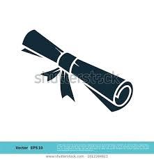 Scroll Paper Graduation Certification Icon Vector Stock