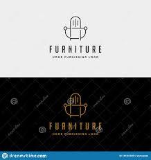 Home Furnishing Logo Design Furniture Logo Design Vector Icon Illustration Icon Isolated