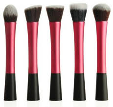 synthetic kabuki makeup brush set of 5 piece fas mb 13 r