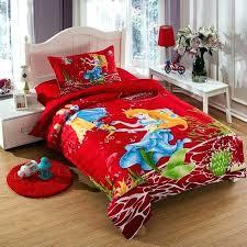 little mermaid bed the little mermaid bedding set twin size kids girls toddler cartoon red quilt