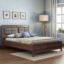 modern bed designs in wood.  Modern Pico Bed Walnut Finish Queen Size And Modern Designs In Wood I