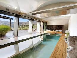 Indoor Outdoor Pool Residential Marvelous Green Indoor Swimming Pools With Large Size Also Modern