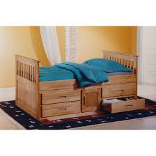 Single Bedroom Furniture Just Kids Captain Single Bed With Storage Reviews Wayfaircouk