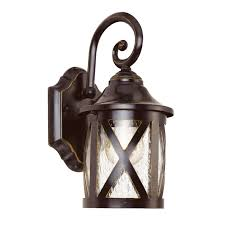 lamp new england 1 light outdoor wall lantern cast aluminum iron and glass material rubbed oil