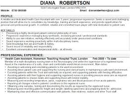 Examples Of Personal Statements For Cv Health Care Assistant Cv Sample Template