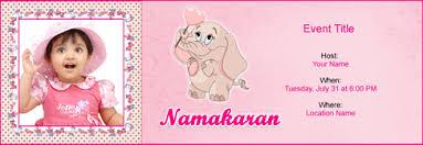 Free Baby Naming Namakaran Invitation With Indias 1