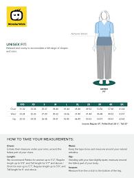 Smocked Auctions Size Chart Unisex Snap Front Jacket 800 Wonderwink