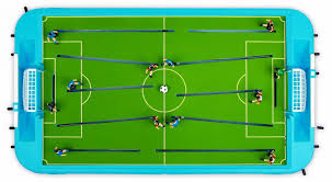 table football. in the football field. 5.seperate feet of players ensure there is no dead angle 6.misplaced orbit and gear combination give you enough table