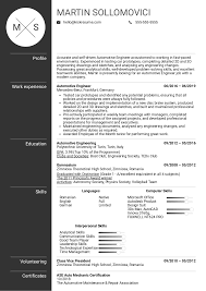 Resume Examples By Real People Automotive Engineer Resume Template