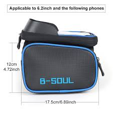 <b>B SOUL</b> Bicycle Front <b>Touch Screen</b> Phone Bag On The Frame ...