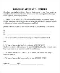Letter For Power Of Attorney 19 Power Of Attorney Templates Free Sample Example