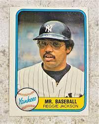 Reggie Jackson 1981 Fleer New York ...